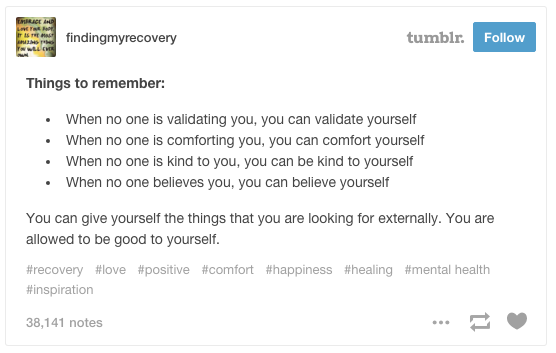 This Reminder That Youre Allowed To Be Good Yourself Feel BetterHappy TumblrEncouragementMental HealthBe
