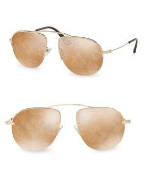 c0db9187445 PRADA 55Mm Mirrored Aviator Sunglasses.  prada  sunglasses