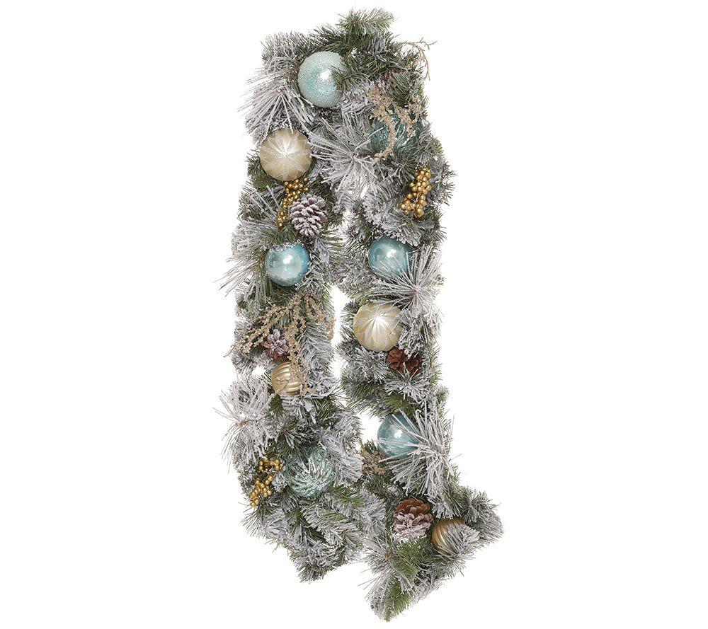 Abella Xmas Tannengirlande Weihnachtliche Accessoires Lange Ca 160cm Qvc De Tannengirlande Weihnachten Girlanden