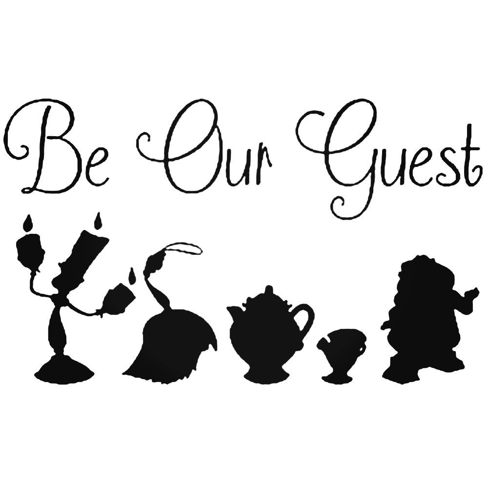 Be Our Guest Disney Silhouette