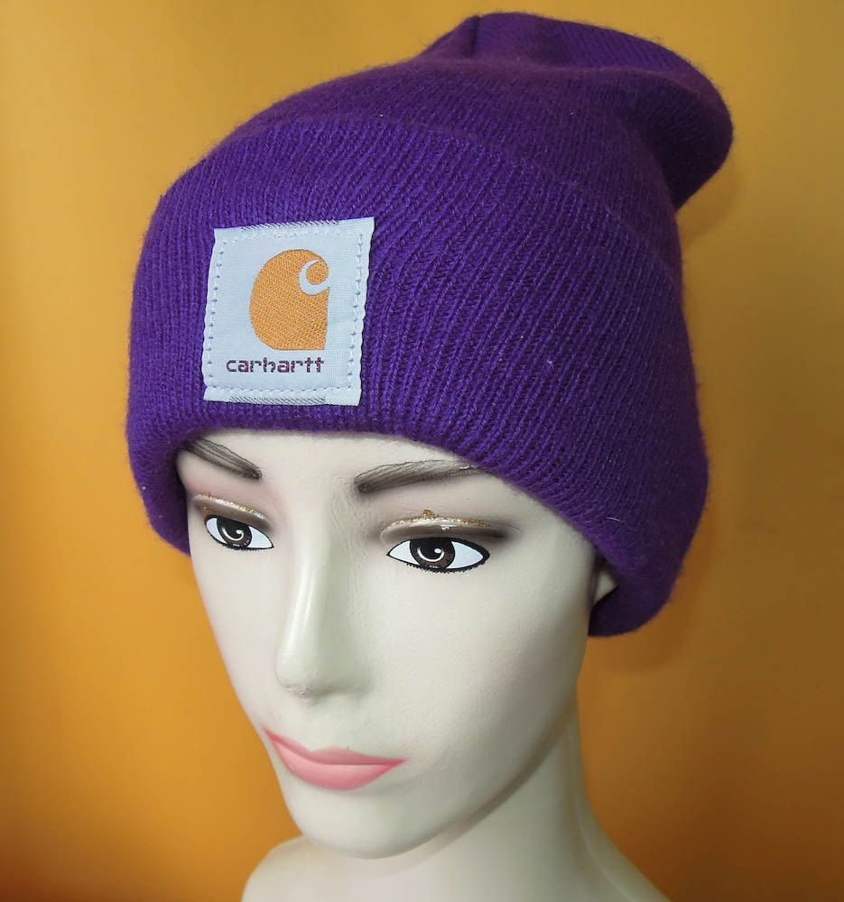 9237bd9bccd36a Carhartt Ski Hat Vintage 90s Signature Logo Solid Rare Purple Color Acrylic  Snow Cap USA (20/5) by InPersona on Etsy