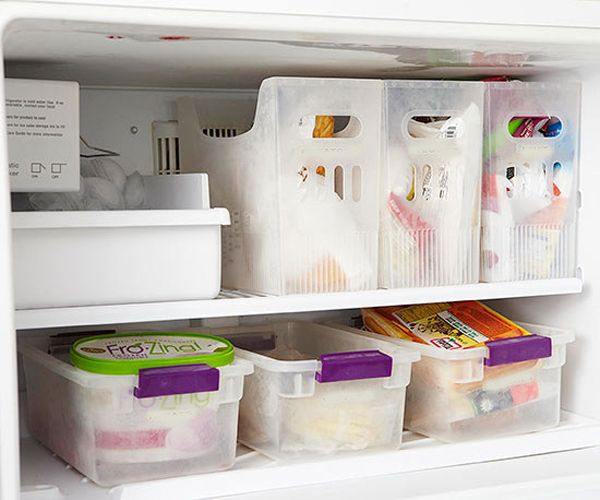 10 Savvy Solutions That Roommates Can Use To Organize Shared Spaces Freezer Organization Refrigerator Organization Fridge Organization
