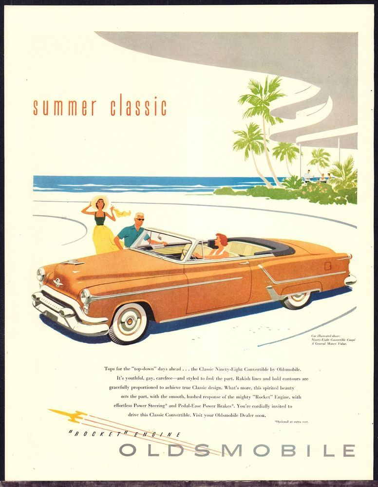 1953 oldsmobile yellow ninety eight convertible coupe 1950s 50s 1953 oldsmobile yellow ninety eight convertible coupe 1950s 50s fifties car ad fandeluxe Image collections
