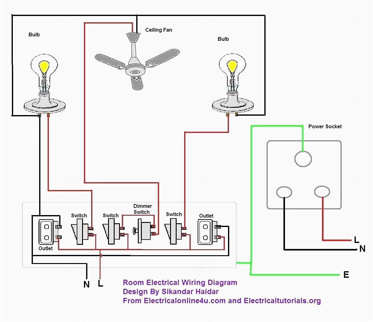 Electric House Wiring Diagram Also Residential Electrical ... on