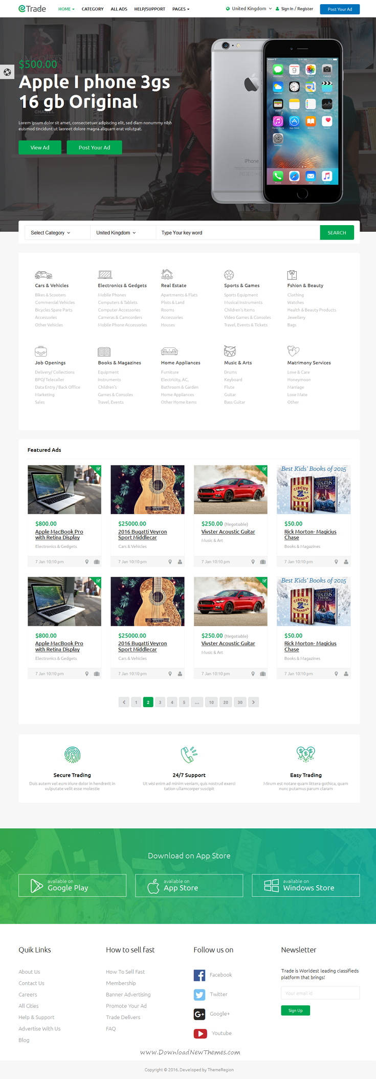 Trade is modern classified ads html bootstrap template comes with trade is modern classified ads html bootstrap template comes with 4 stunning homepage layouts webdesign maxwellsz