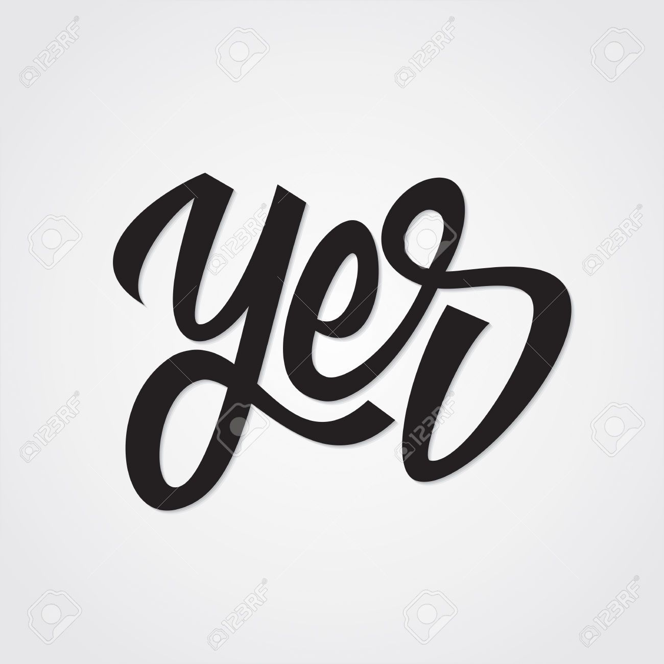 Yes Hand Lettering Calligraphy Vector Aesthetic Lettering Hand Lettering Lettering