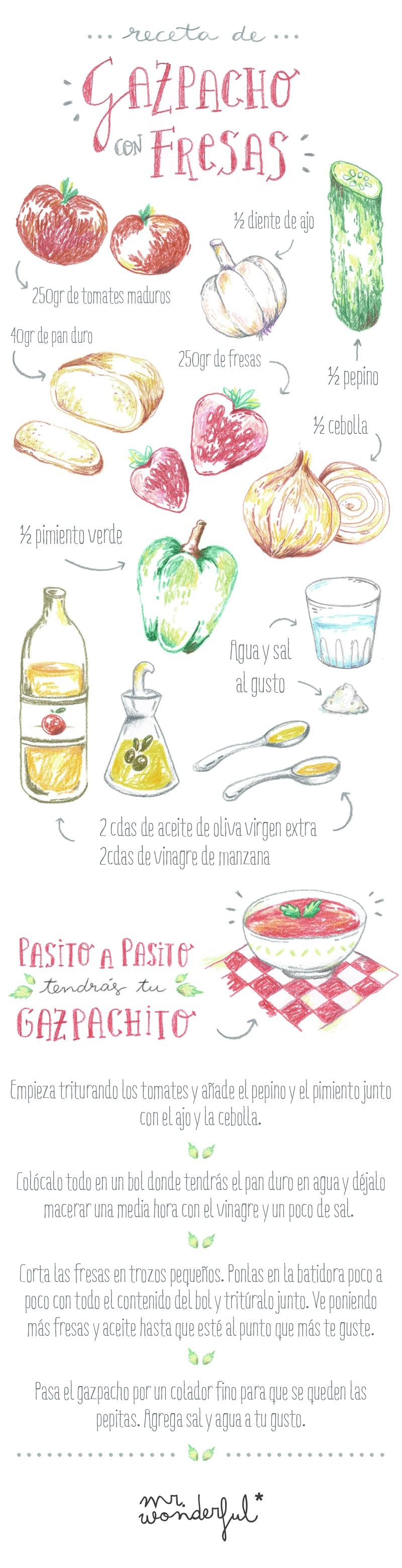 Receta de gazpacho con fresas, ¡adiós calor!