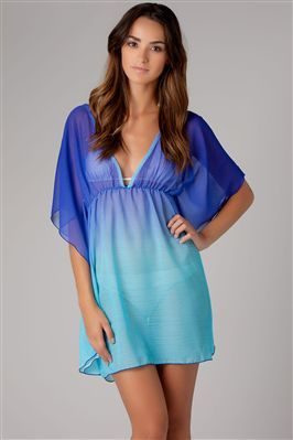 66b57dd455079 Ombre chiffon tunic - swim cover up need this for the beach!!! Supper cute!