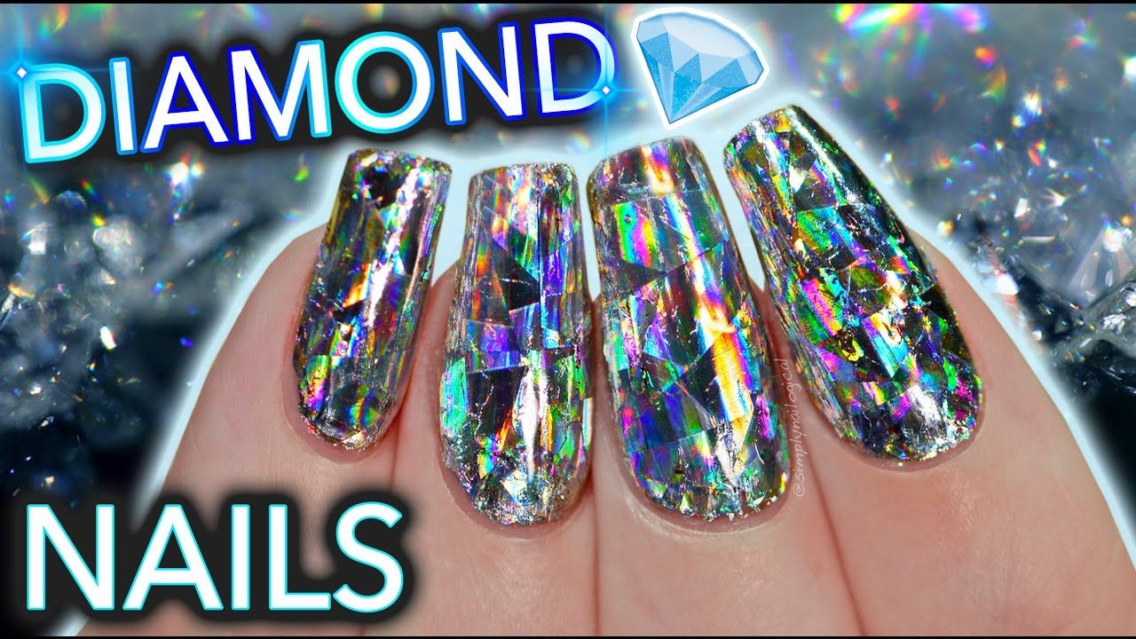 DIY Diamond Nails aka HOLO GET IT STRAIGHT (warning some language ...
