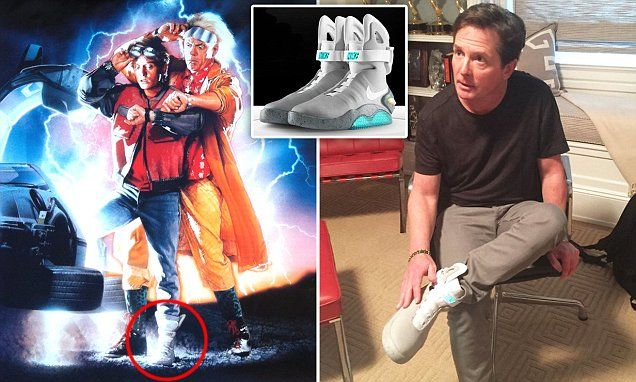 Michael J. Fox models the first pair of self-lacing Nike Mag