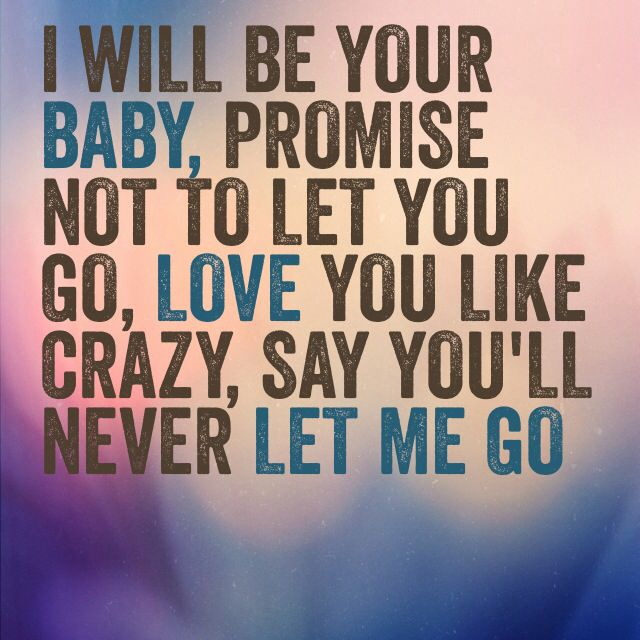 Love Quote Beyonce Never Let Me Go Quotes Sayings