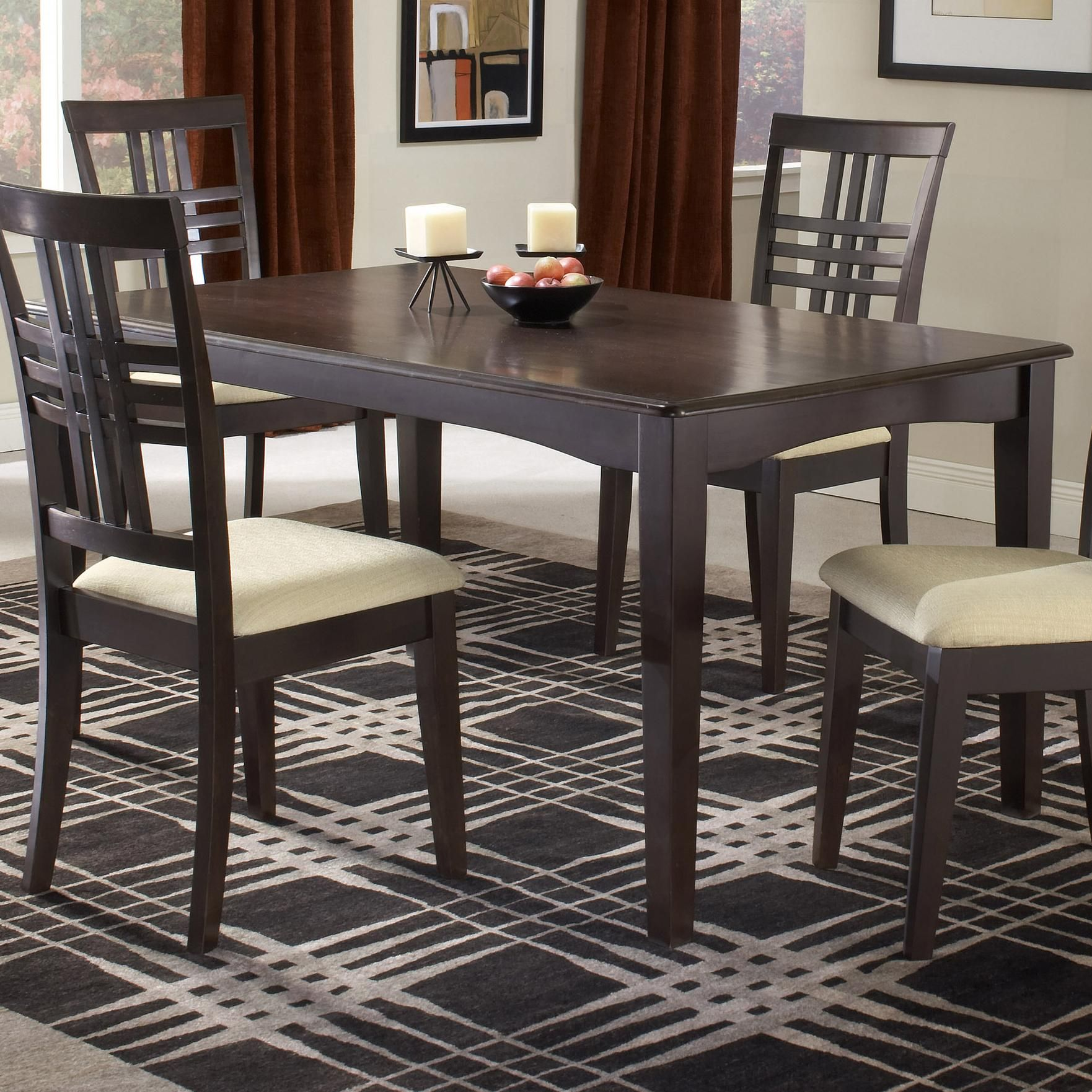 Tiburon 36 X 60 Fix Top Dining Table By Hillsdale