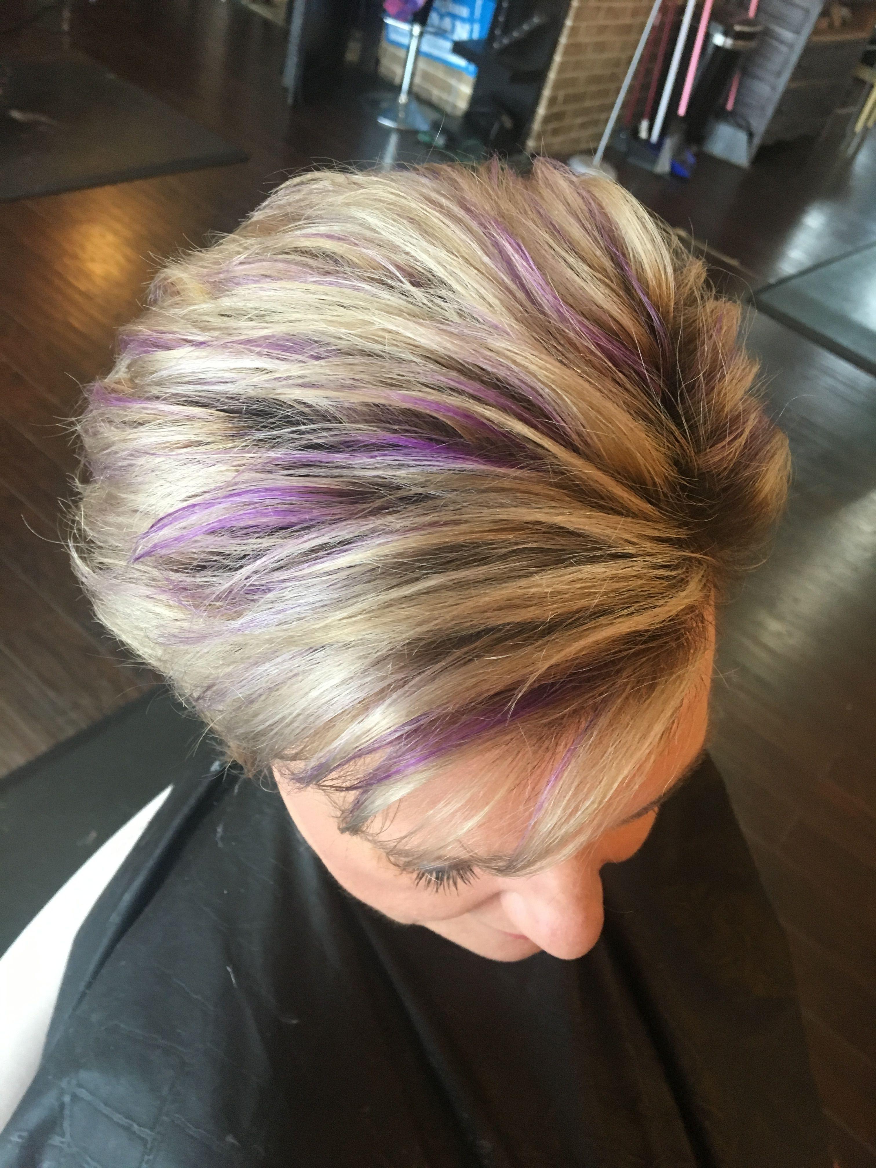 29+ Gray hair with purple streaks trends