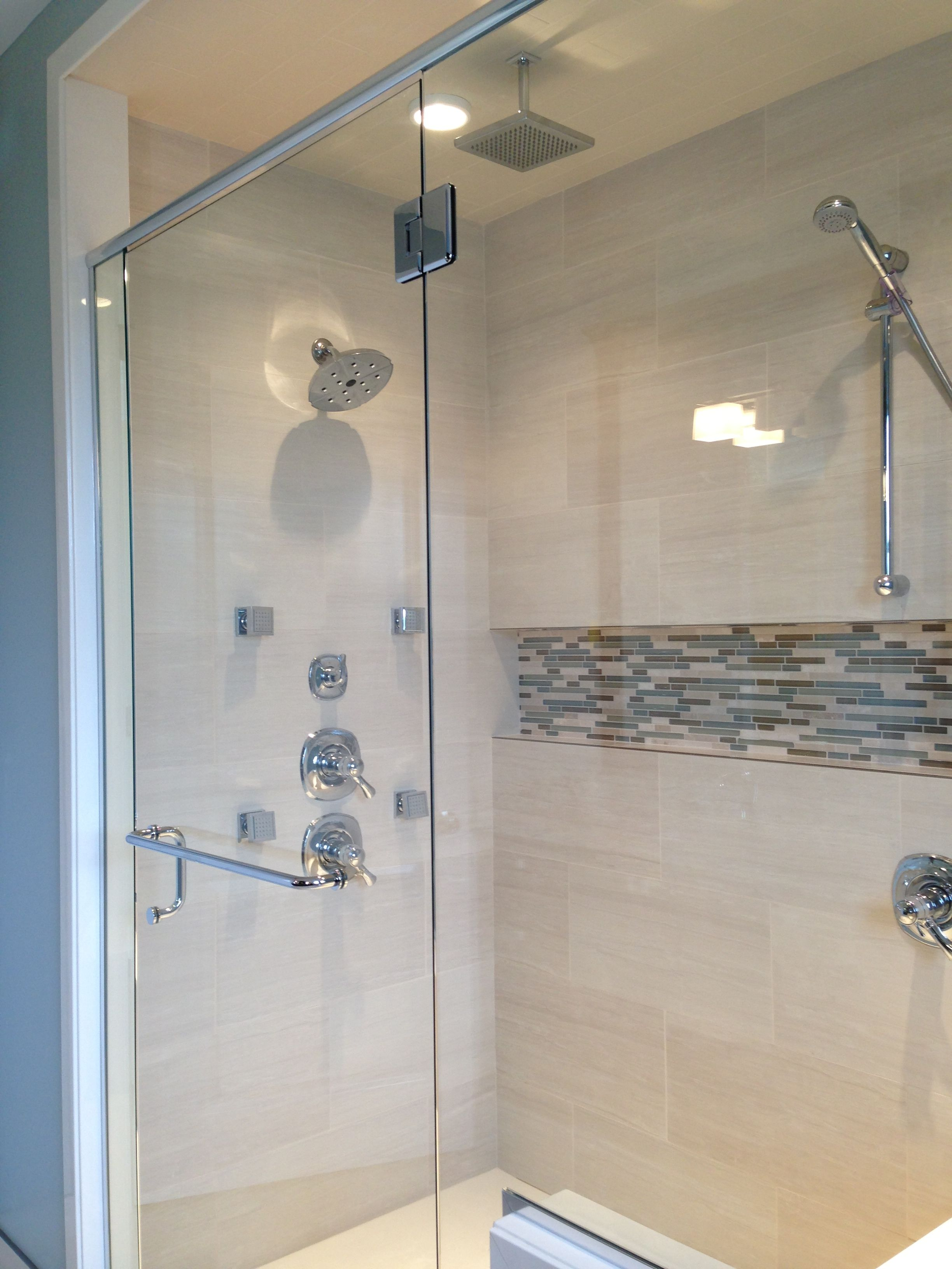 Mosaic Shower Niche Seaside Bathroom Bathroom Niche