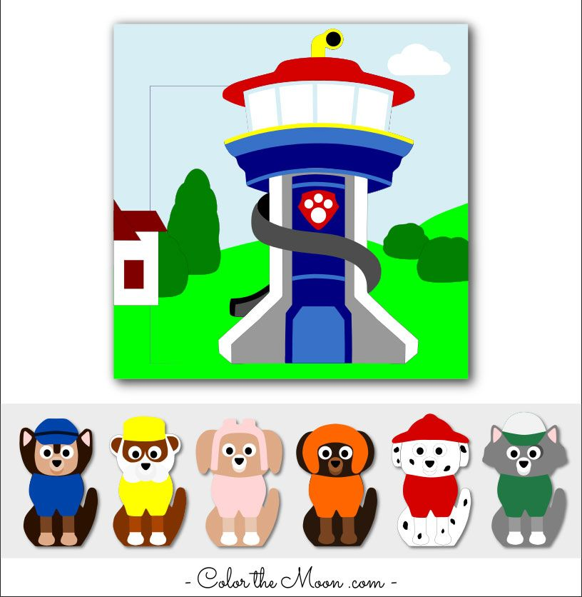 Paw Patrol Finger Puppets: A Quiet Book Page That Kids