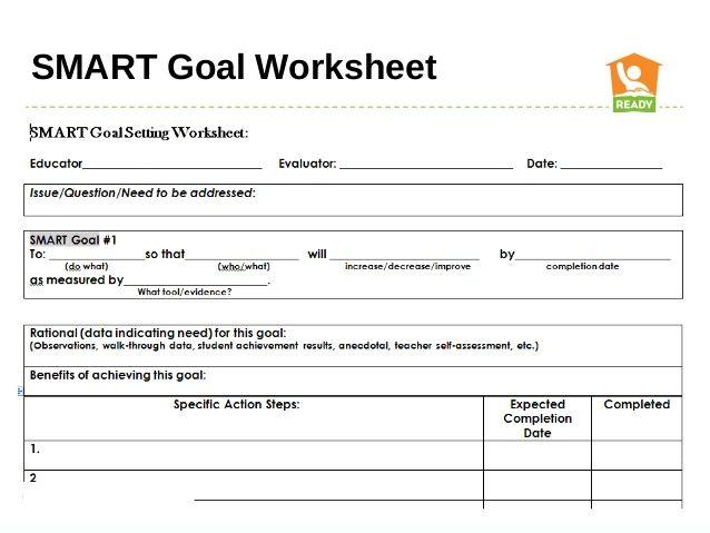Smart Goals Worksheet  Google Search  Goals    Smart