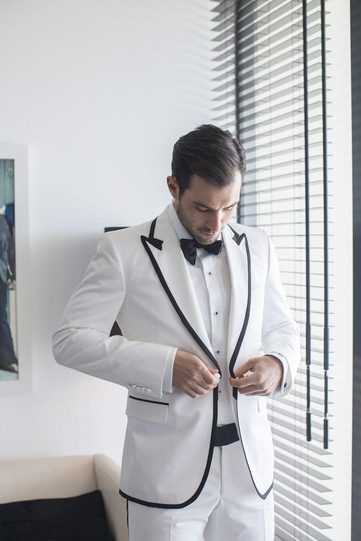 Wedding Tuxedo, Wedding Suit, White Tux, Monochrome Suit, White ...
