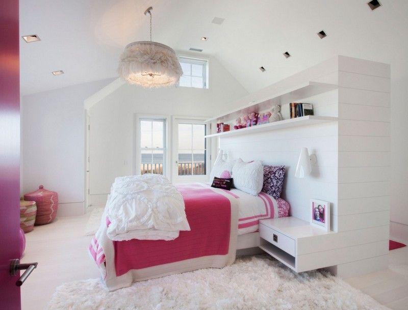 Chambre adulte blanche 80 idées pour votre aménagement Long shelf