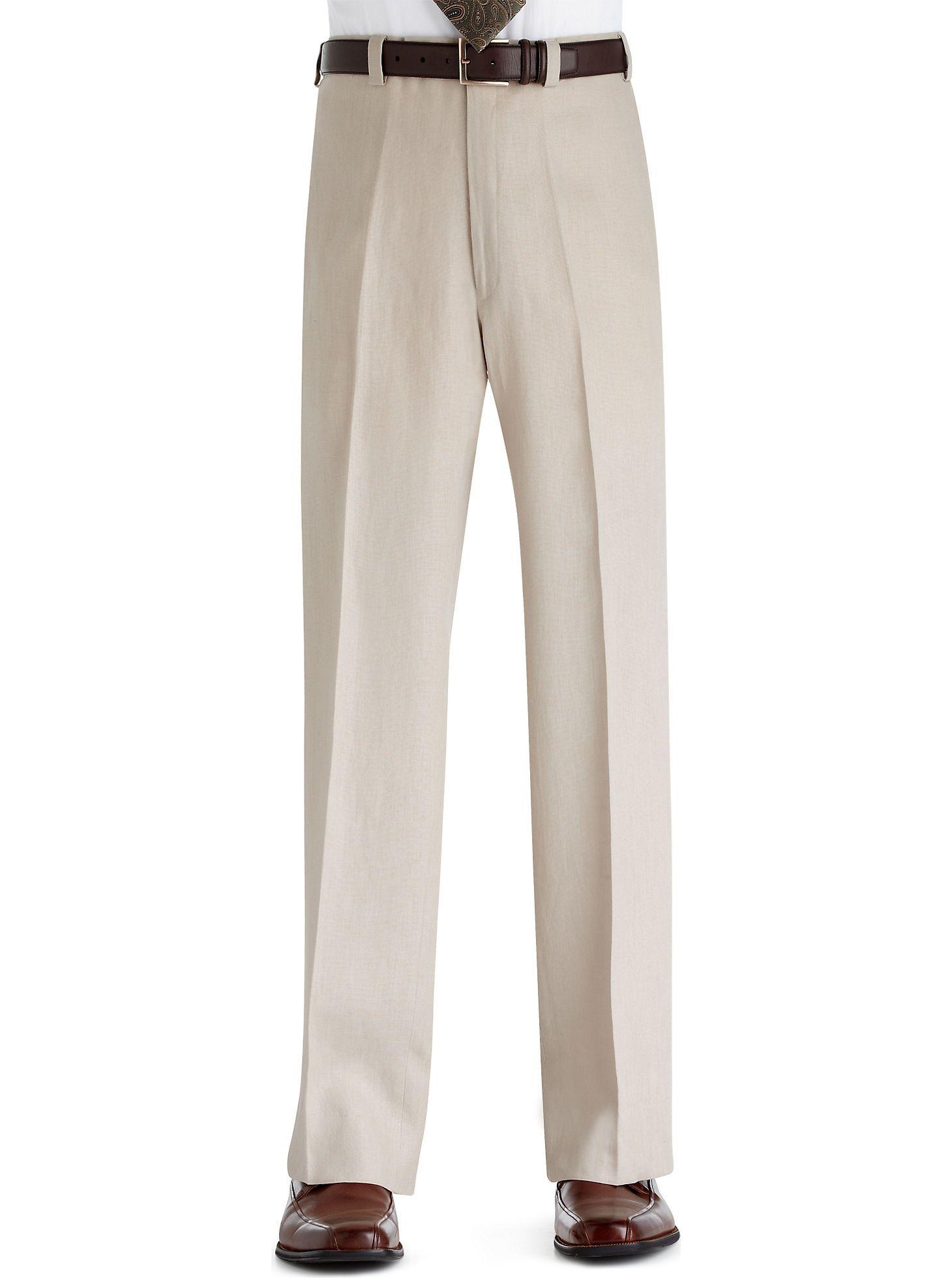 Pants Shorts Calvin Klein Tan Linen Suit Separates Slacks Men S Wearhouse Business Attire For Men Designer Clothes For Men Khaki Slacks