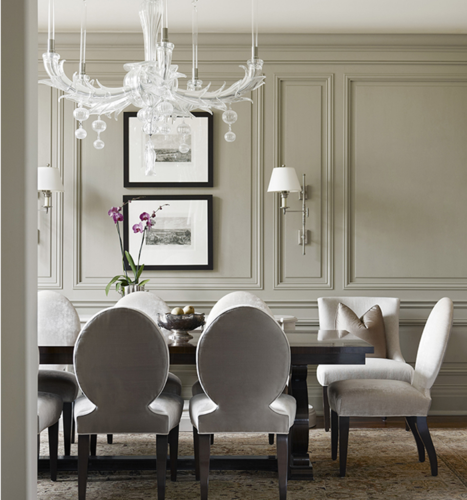 The 15 Most Beautiful Dining Rooms On Pinterest Sanctuary Home Decor Dining Room Paneling Beautiful Dining Rooms Neutral Dining Room