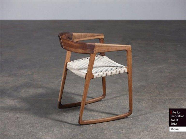 Rocking walnut chair Tesa Collection by Artisan | design Salih Teskeredžic