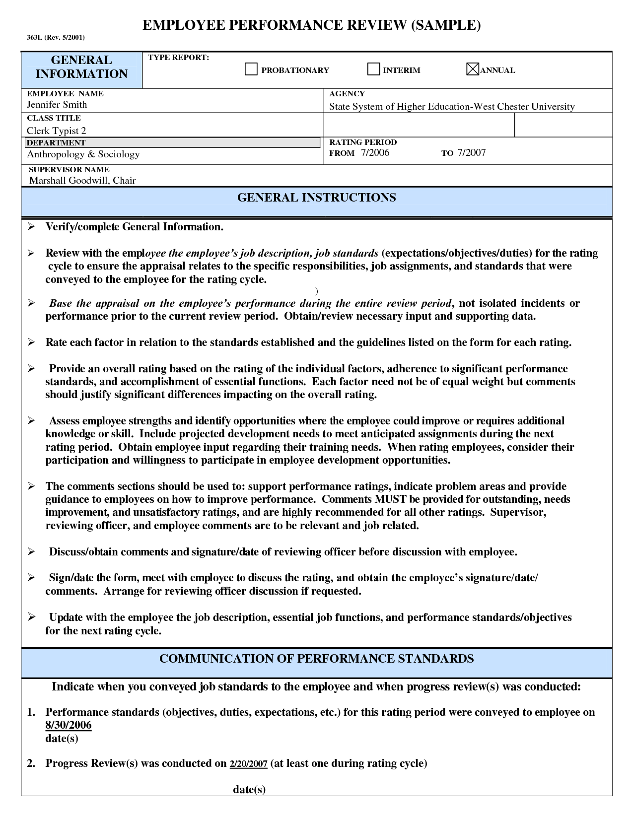 a21a4f656afe46ef7268e8f2aaf6c93d Sample Employee Performance Goals Examples on evaluation form, appraisal wording example, write up, appreciation letter, business perspective, write up template,
