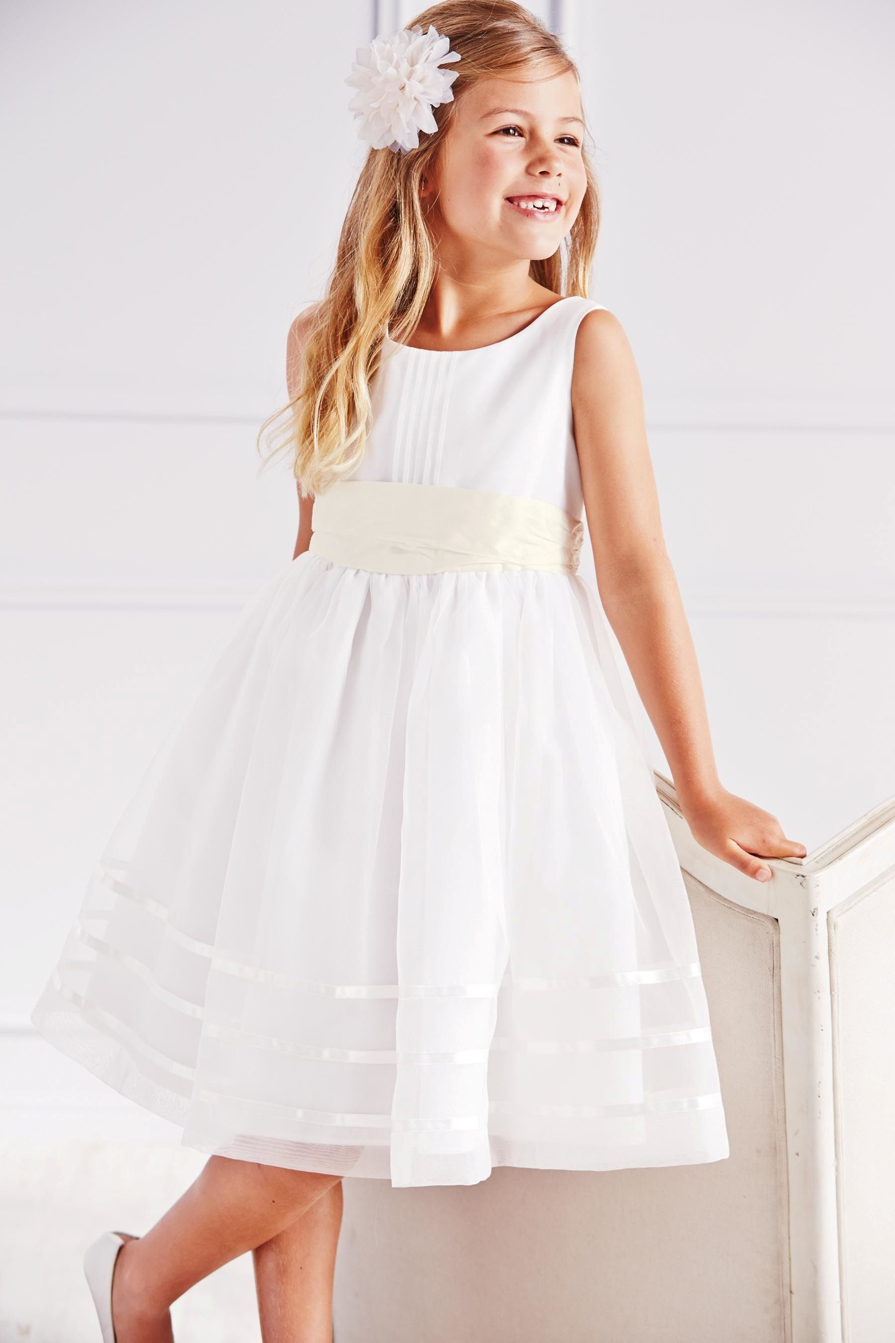 Buy ecru sash bridesmaid dress 3mths 16yrs from the next uk buy ecru sash bridesmaid dress 3mths 16yrs from the next uk online shop ombrellifo Images