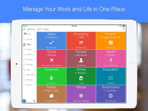 Best calendar and organizer for the iPhone and iPad LifeTopix - app for resume