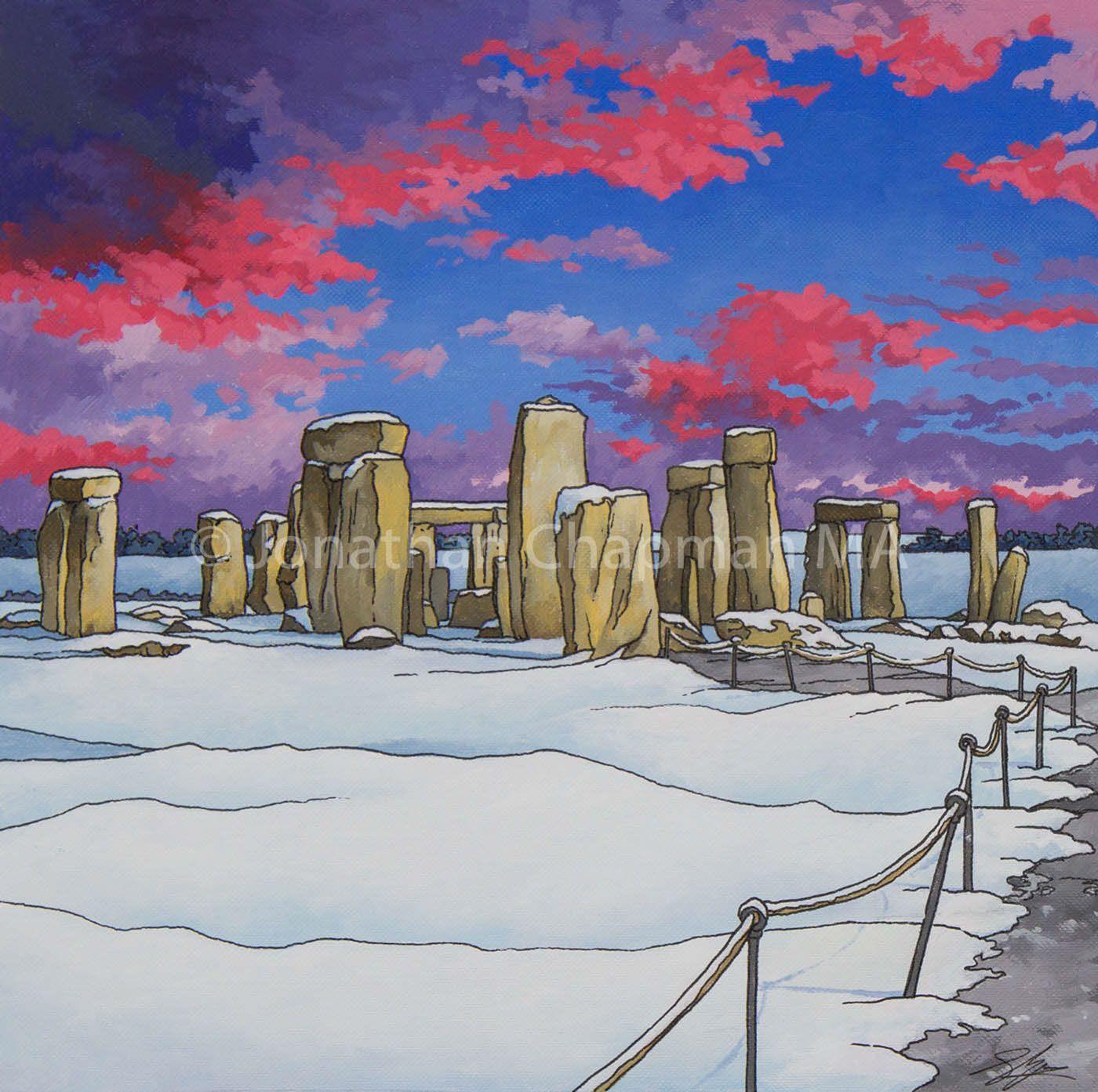 Stonehenge at Twilight on Behance
