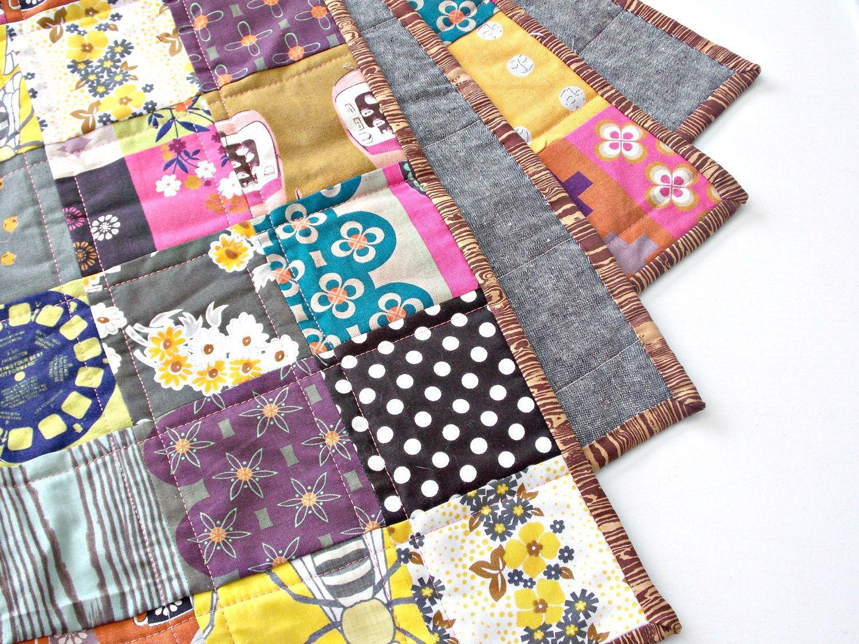 Baby Quilt - Crib Quilt - Baby Play Mat - Japanese Fabrics ...
