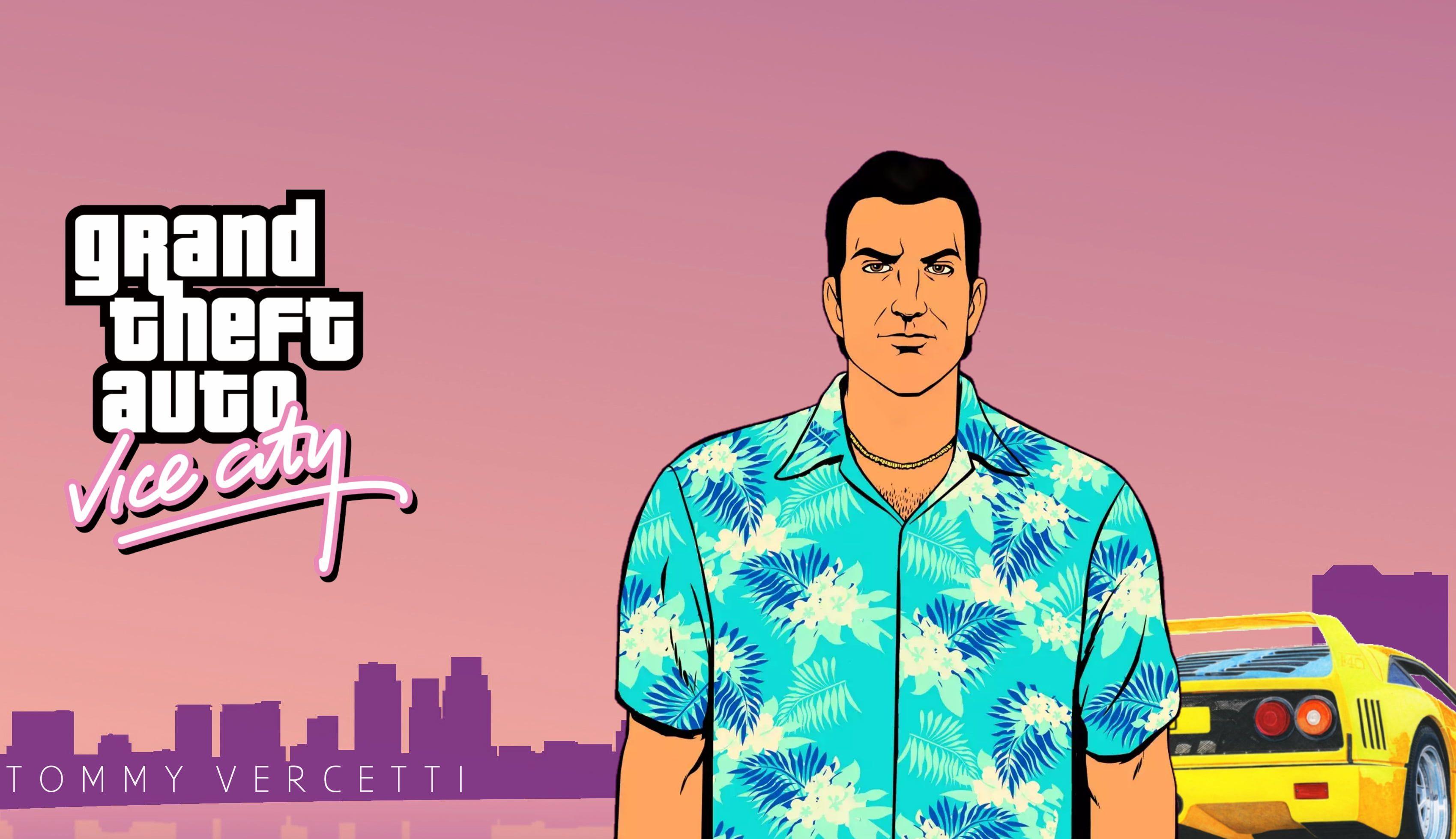 Grand Theft Auto Grand Theft Auto Vice City Tommy Vercetti 2k Wallpaper Hdwallpaper Desktop Gta Grand Theft Auto Grand Theft Auto Games Aesthetic gta vice city wallpaper 4k