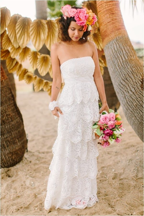 Inspiration Caribbean Beach Wedding Shoot Joss Gown From Bhldn Danielle Capito Photography Via Le Magnifique Blog