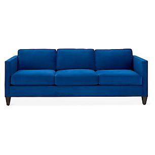 Cecilia Sofa Royal Blue Velvet Blue Sleeper Sofa Blue Velvet