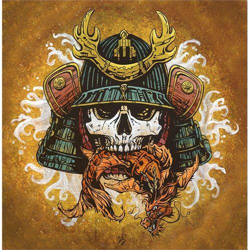 Fortuity by David Lozeau Skull Japanese Samurai Canvas ...