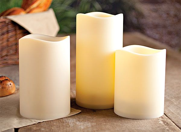 Outdoor Flameless Candles Impressive Set Of 3 Outdoor 45 Inch Diameter Flameless Candles Programmable Inspiration Design