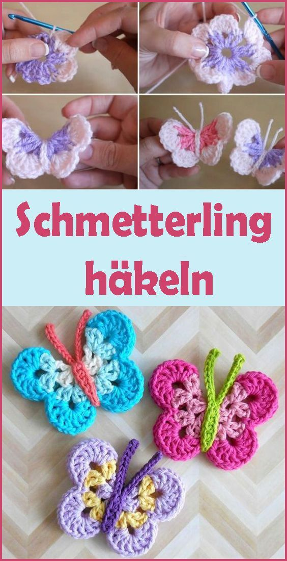Photo of Crochet Butterfly selbst – Simple DIY Tutor – Kleiner Balkon Ideen