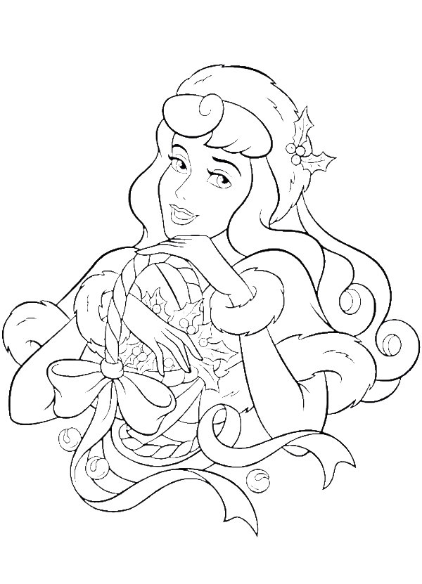 princess aurora happy merry christmas coloring pages christmas coloring pages kidsdrawing free coloring