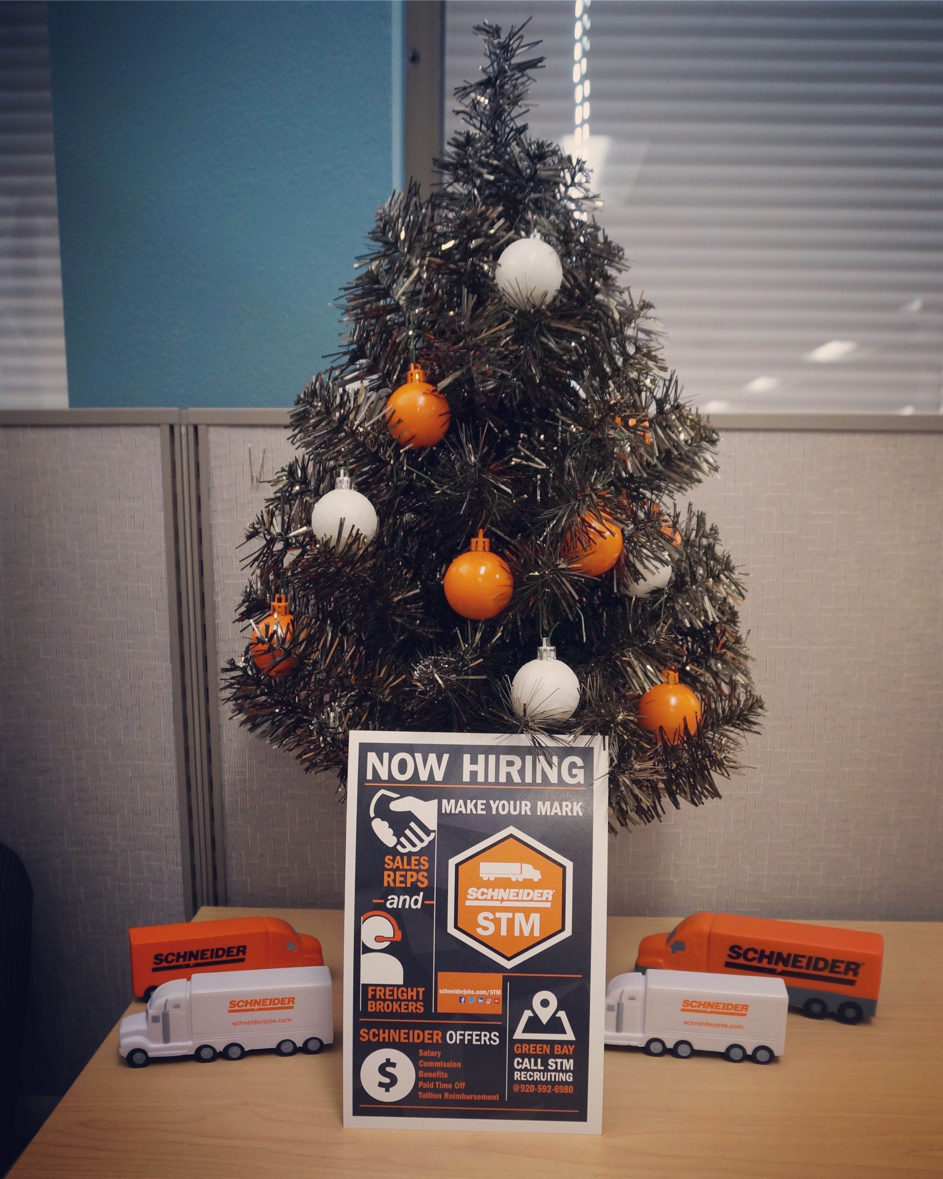 Schneider Transportation Management Careers Office Job Holiday Decor Christmas Tree