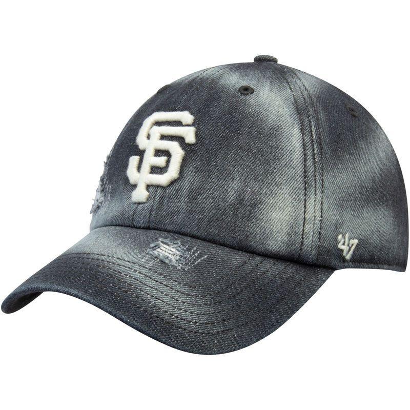 official photos f1695 db634 San Francisco Giants  47 Loughlin Clean Up Adjustable Hat – Black
