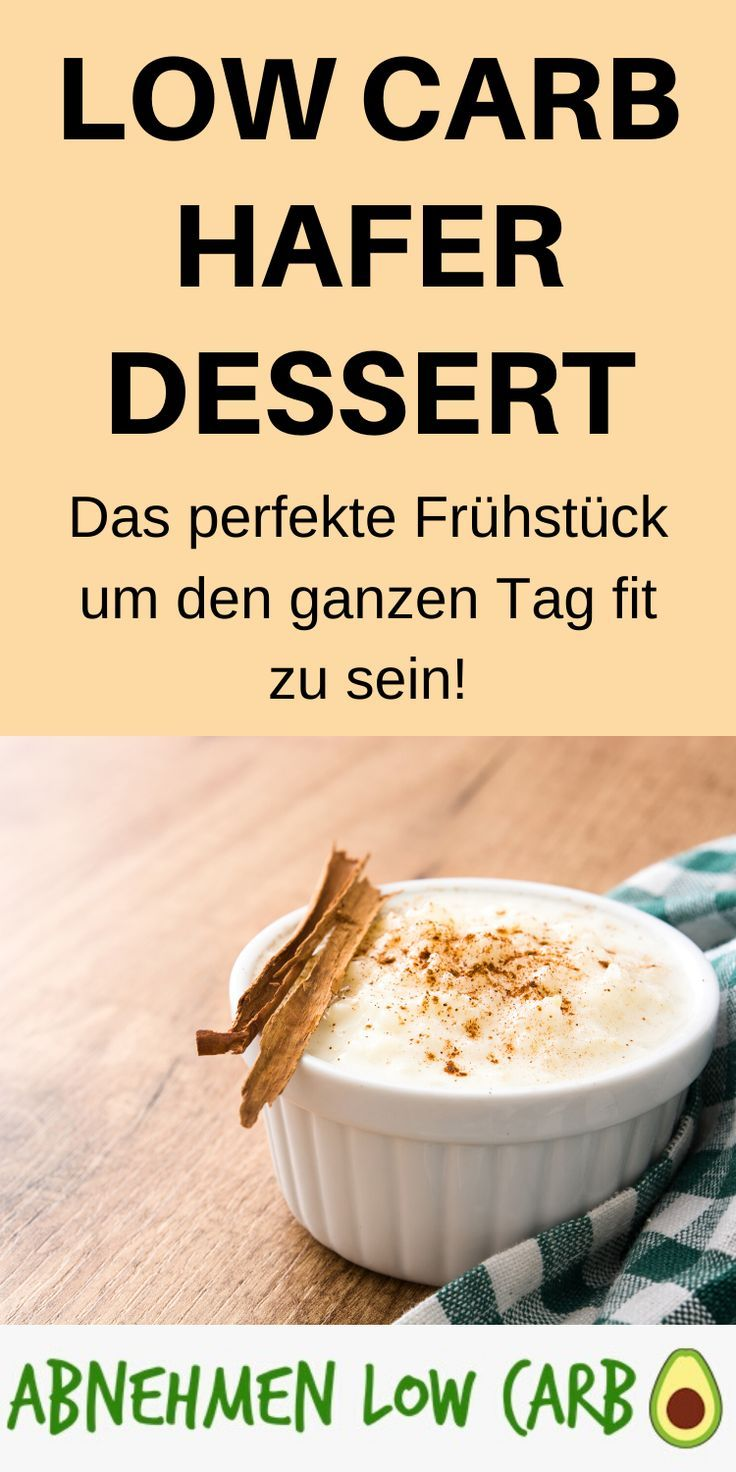 Low Carb Hafer Dessert – Abnehmen Low Carb