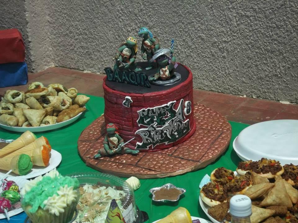Ninja Turtle cake for my nephew