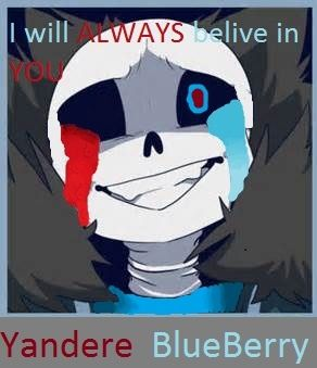 Yandere Blueberry When He Loves Fell Sans And Someone Gets Between