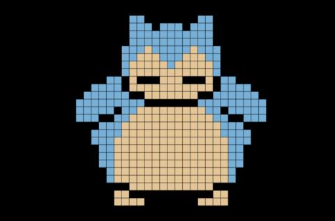 Pokemon Snorlax Pixel Art Anime Pixel Art Pixel Art Grid