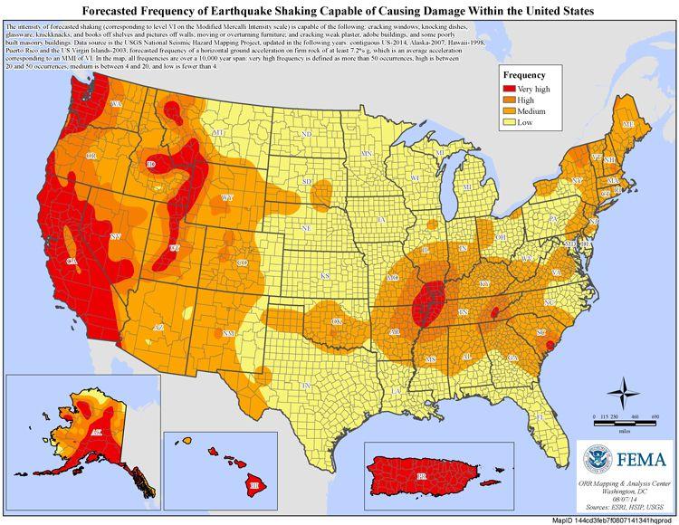 America S Prepareathon Earthquake Preparedness Earthquake Electoral Map