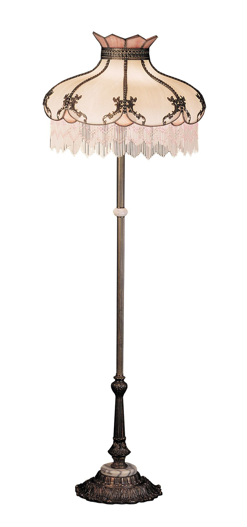 Rose victorian floor lamp fantasy homes rooms and for Victorian wooden floor lamp