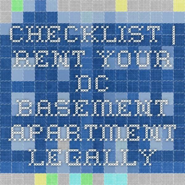 Checklist | Rent Your DC Basement Apartment Legally ...