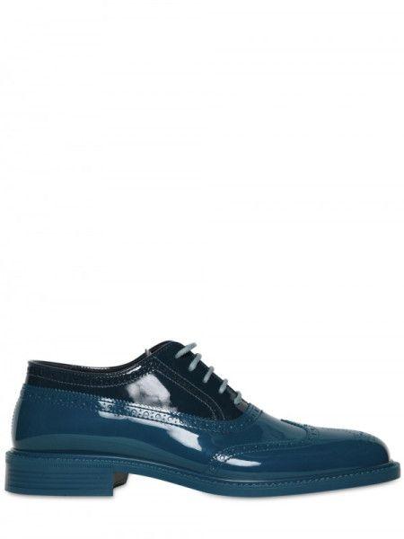 81feeeddc1179 Men's Blue Rubber Laceup Shoes | dope | Shoes, Lace up shoes ...