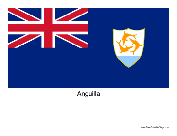 The Flag Of Anguilla Free To Download And Print Flag Anguilla Print