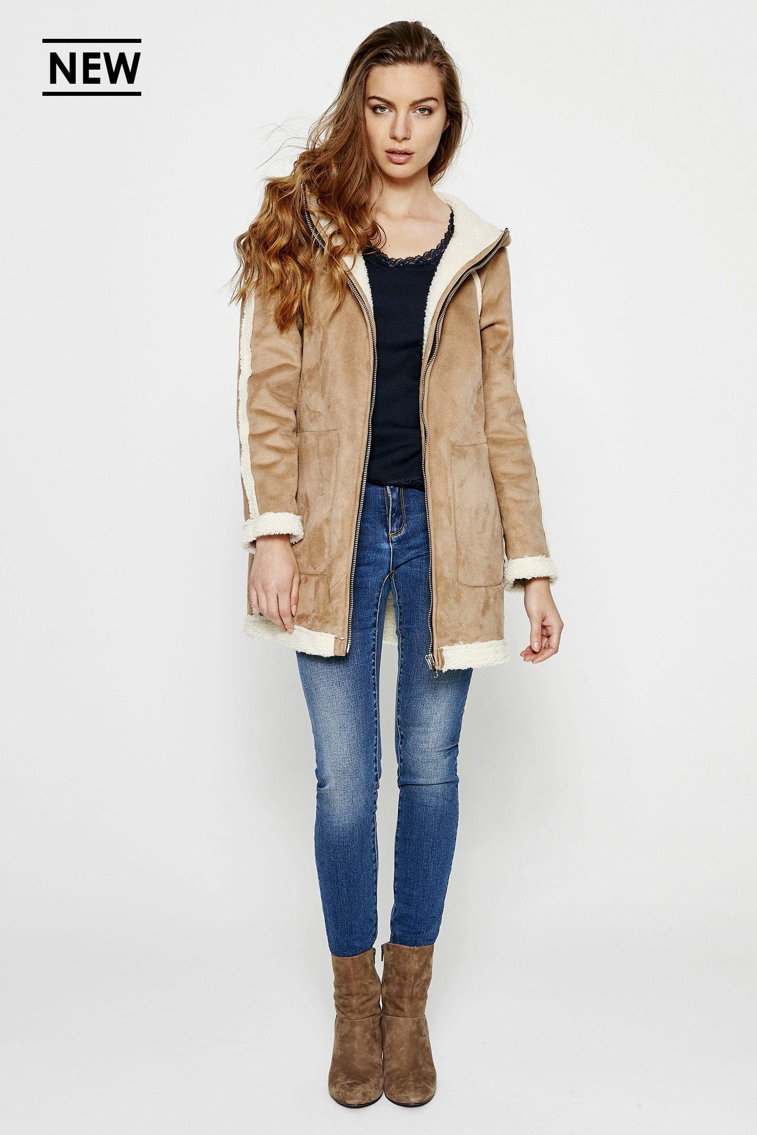 Manteau ddp femme beige