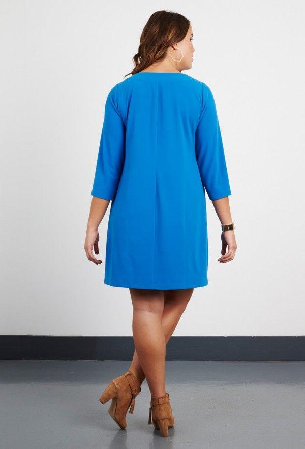 Plus Size Tailoring Georgette Plain Tunic